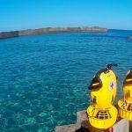 屋久島、海の安全装備「DPV(水中スクーター)」