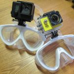 屋久島の海で「マスクマウントカメラ考」