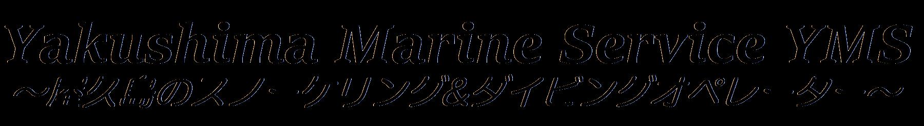 シュノーケリング&ダイビングの屋久島マリンサービスYMS