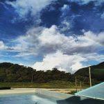 屋久島の海・川で。「雨の島、即ち、虹の島」でもあるのよなぁ。